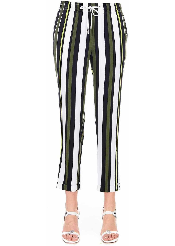 Liu Jo Striped summer pants Multicolor