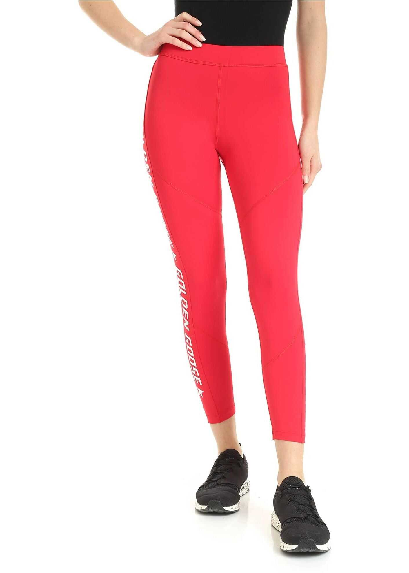 Golden Goose Nori Leggins In Red Red