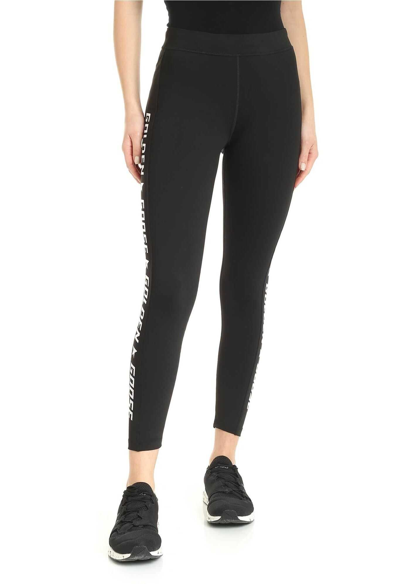 Golden Goose Nori Leggins In Black Black