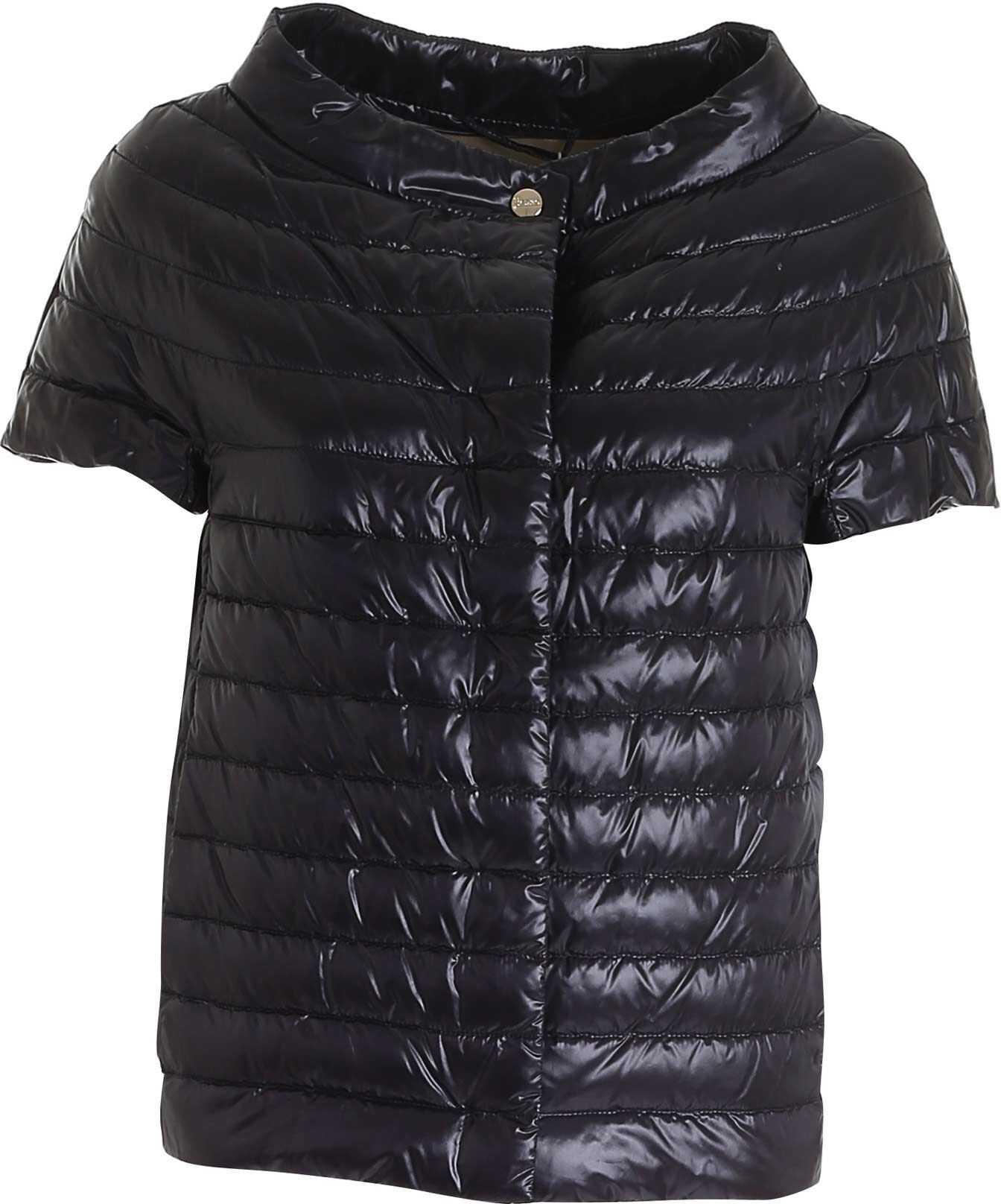 Herno Margherita Short Sleeve Down Jacket In Black Black