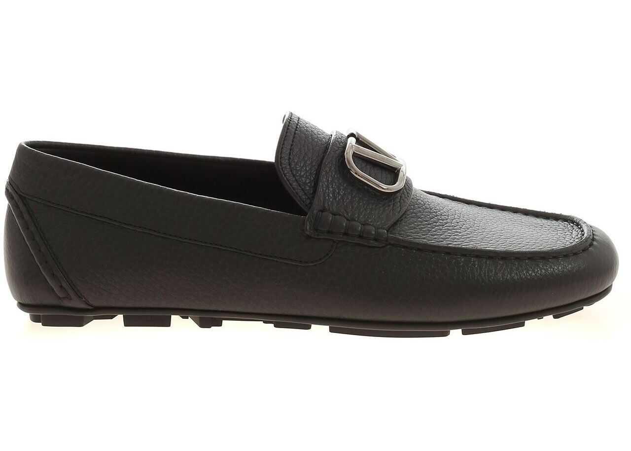 Valentino Garavani Driver Loafers In Black TY2S0C032 YST 0NO Black imagine b-mall.ro