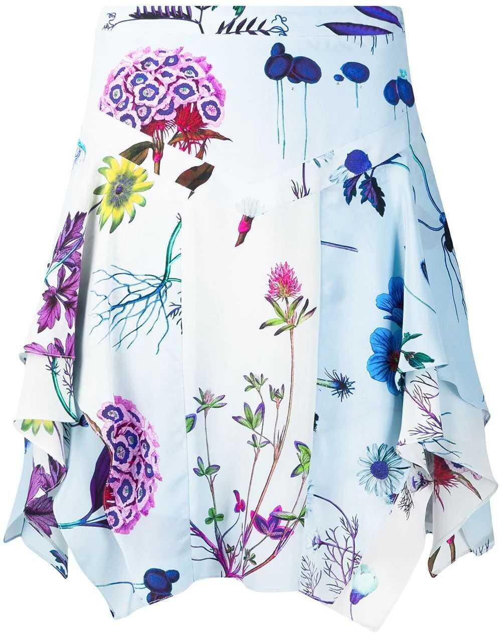 adidas by Stella McCartney Silk Skirt LIGHT BLUE