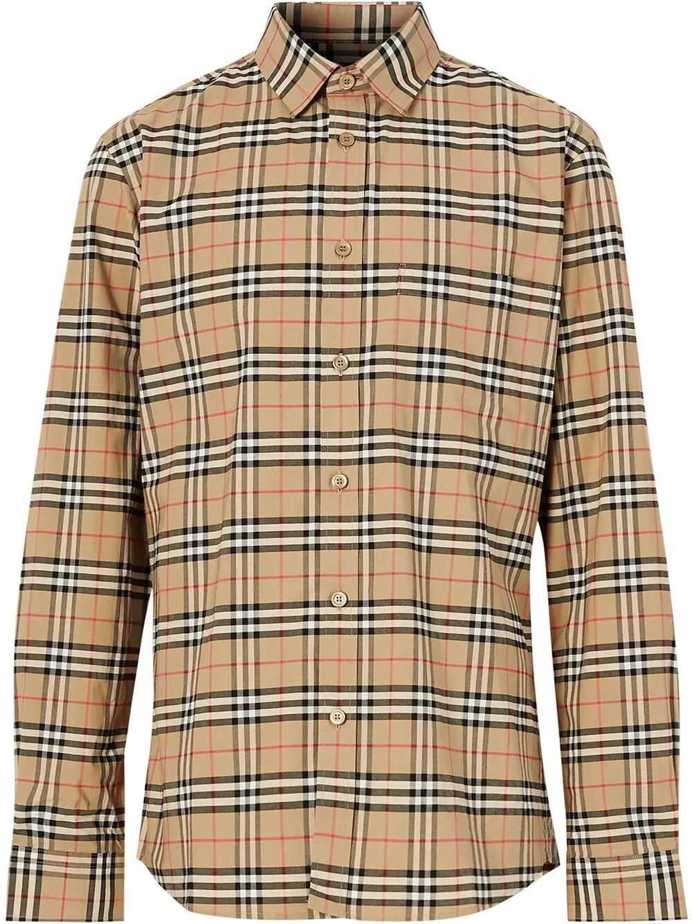Burberry Cotton Shirt BEIGE