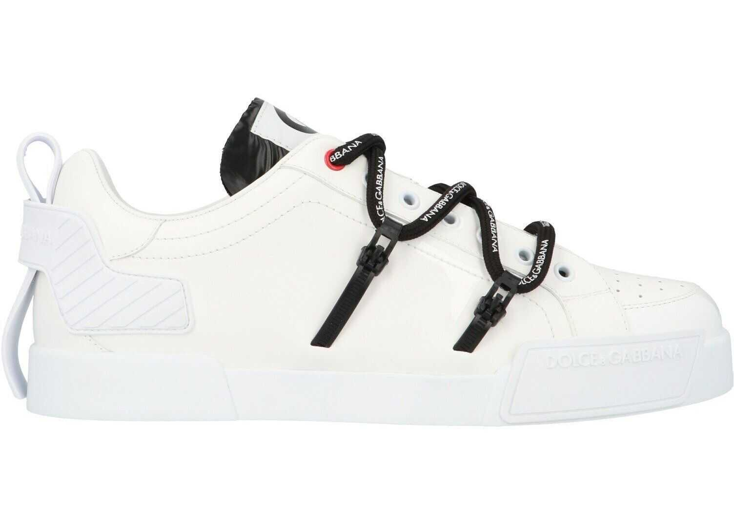 Dolce & Gabbana Leather Sneakers WHITE