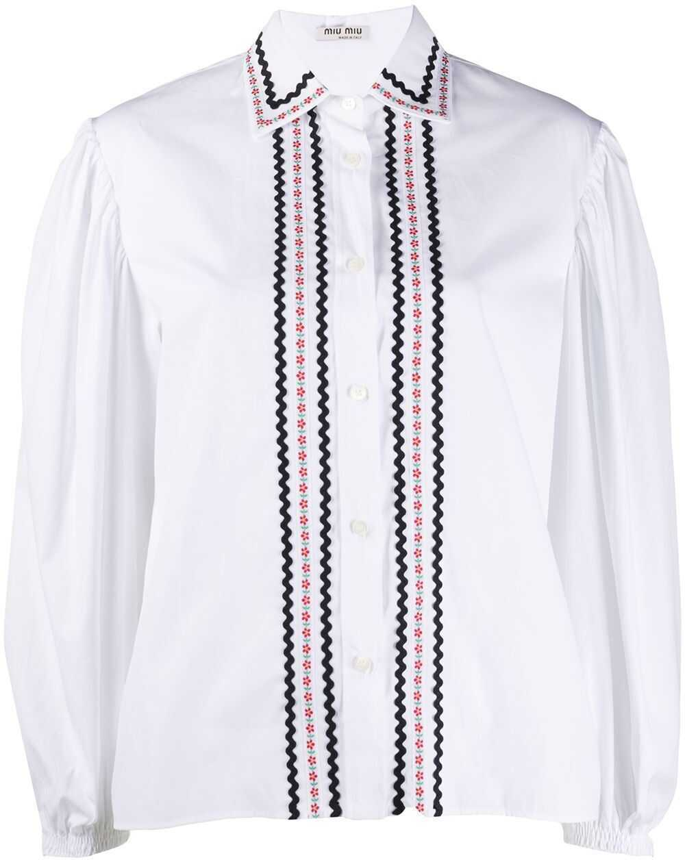 Miu Miu Cotton Shirt WHITE