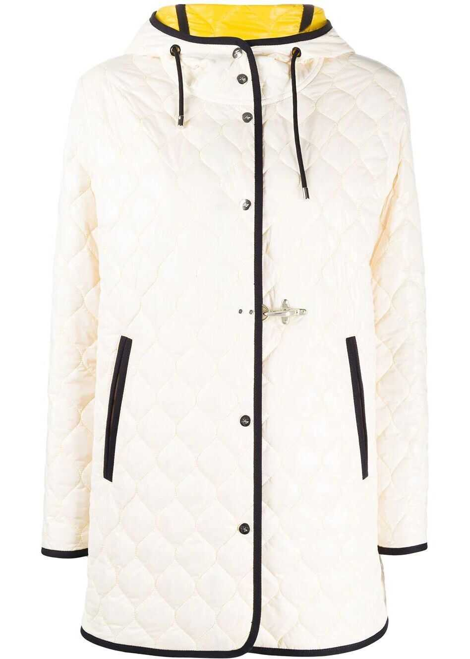 Fay Polyester Outerwear Jacket WHITE