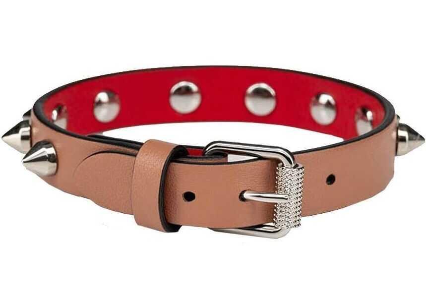 Christian Louboutin Leather Bracelet PINK