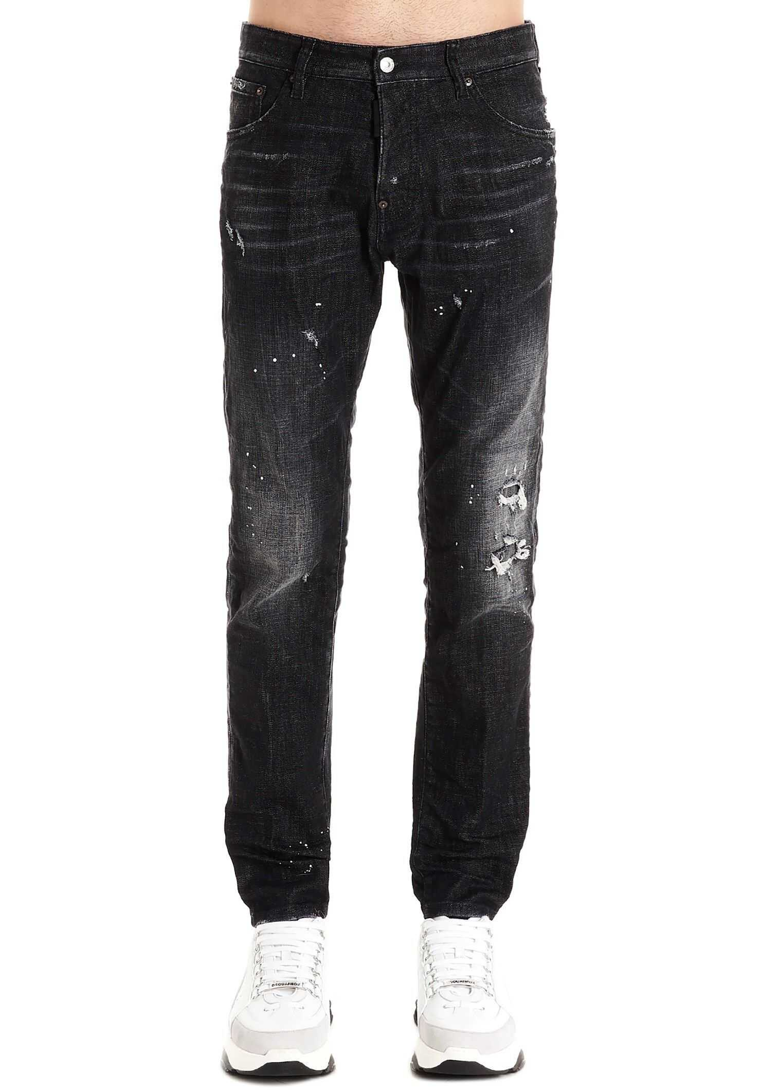 DSQUARED2 Cotton Jeans BLACK