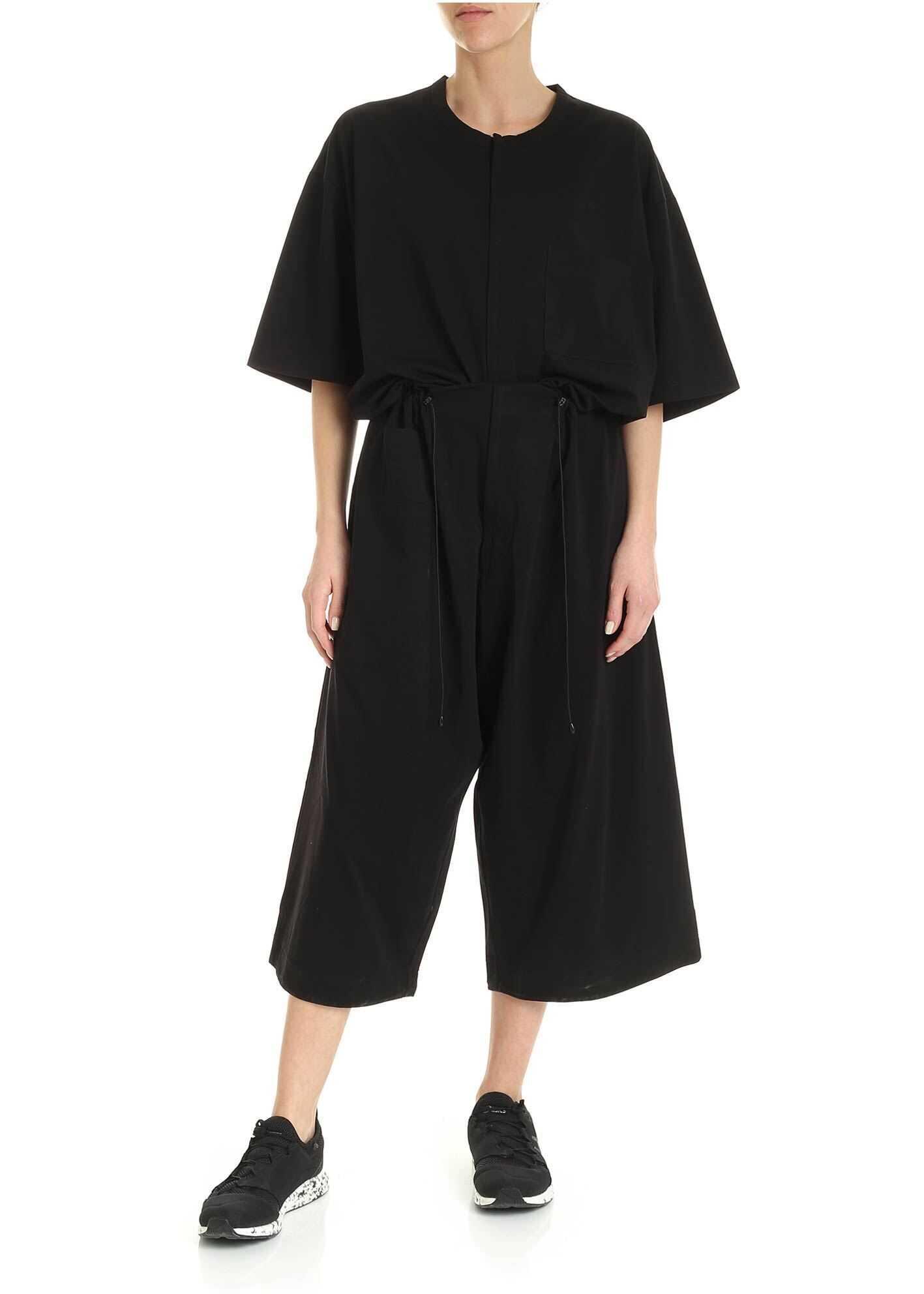 Y-3 W Trvl Jumpsuit In Black Black