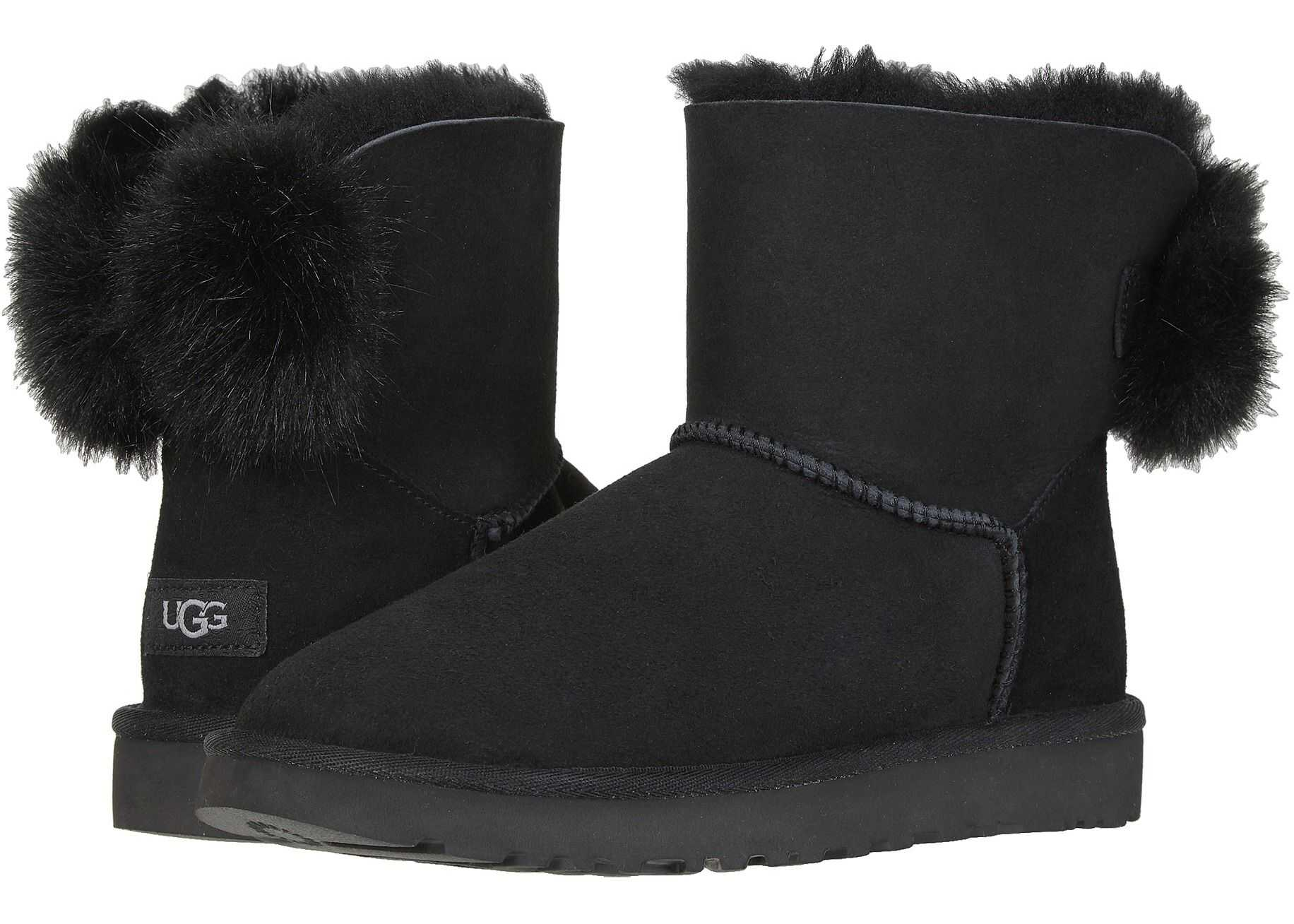 UGG Mini Puff Crystal Bow Black