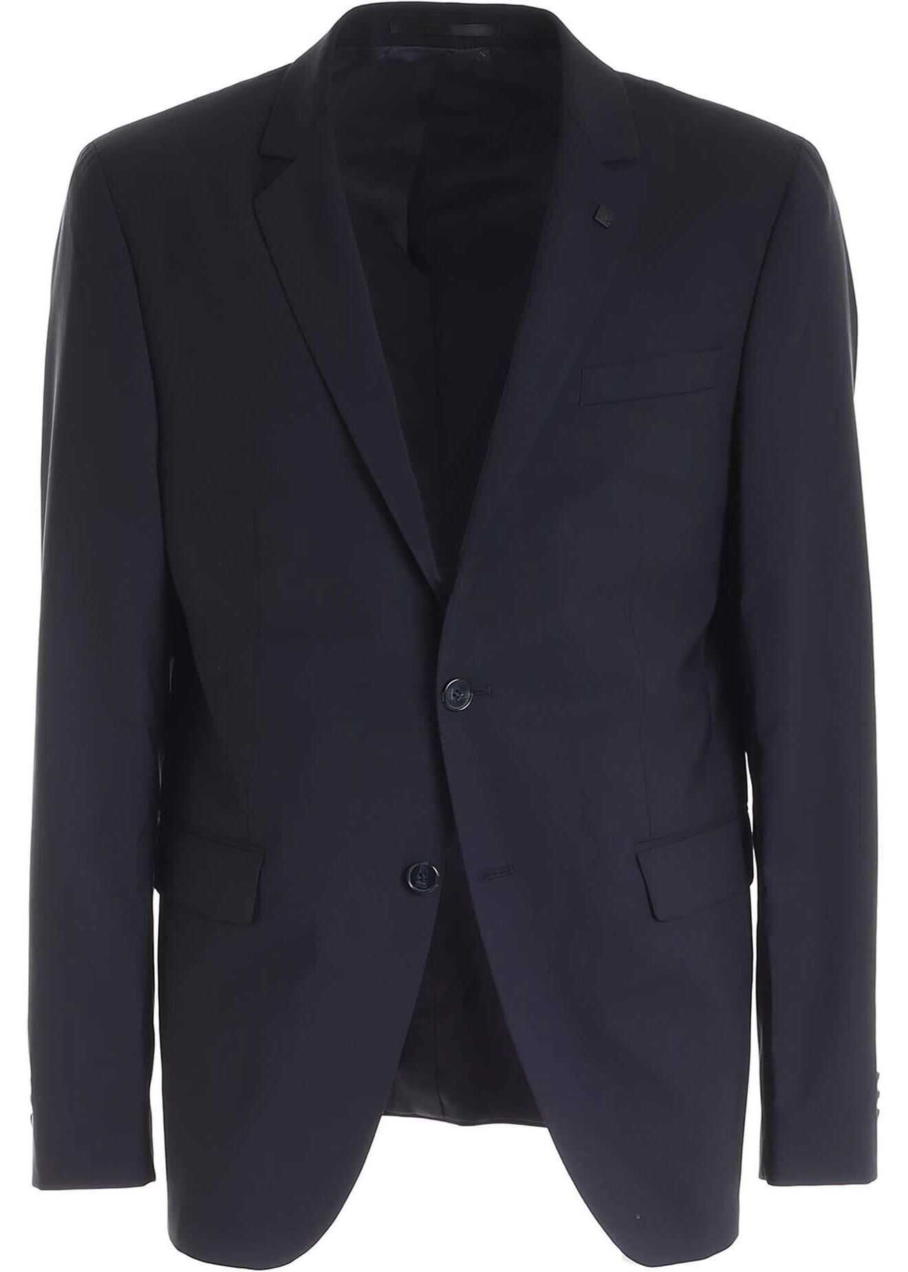 Karl Lagerfeld Two-Buttons Jacket In Blue Blue imagine