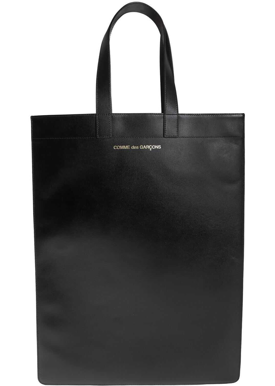 Comme des Garçons Shopping Bag In Black Black