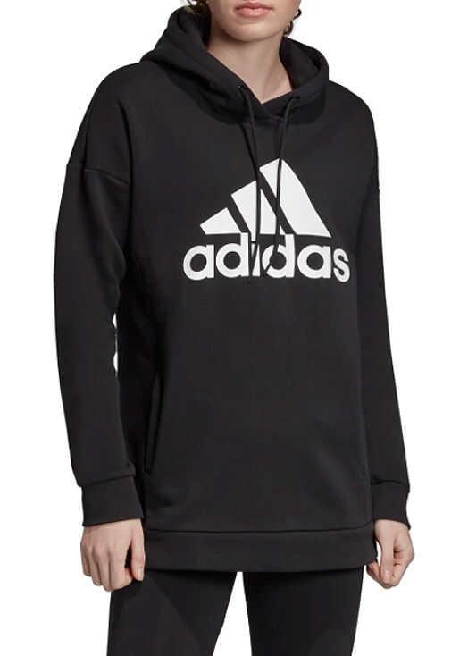 adidas Must Haves Badge of Sport Logo Hoodie Black