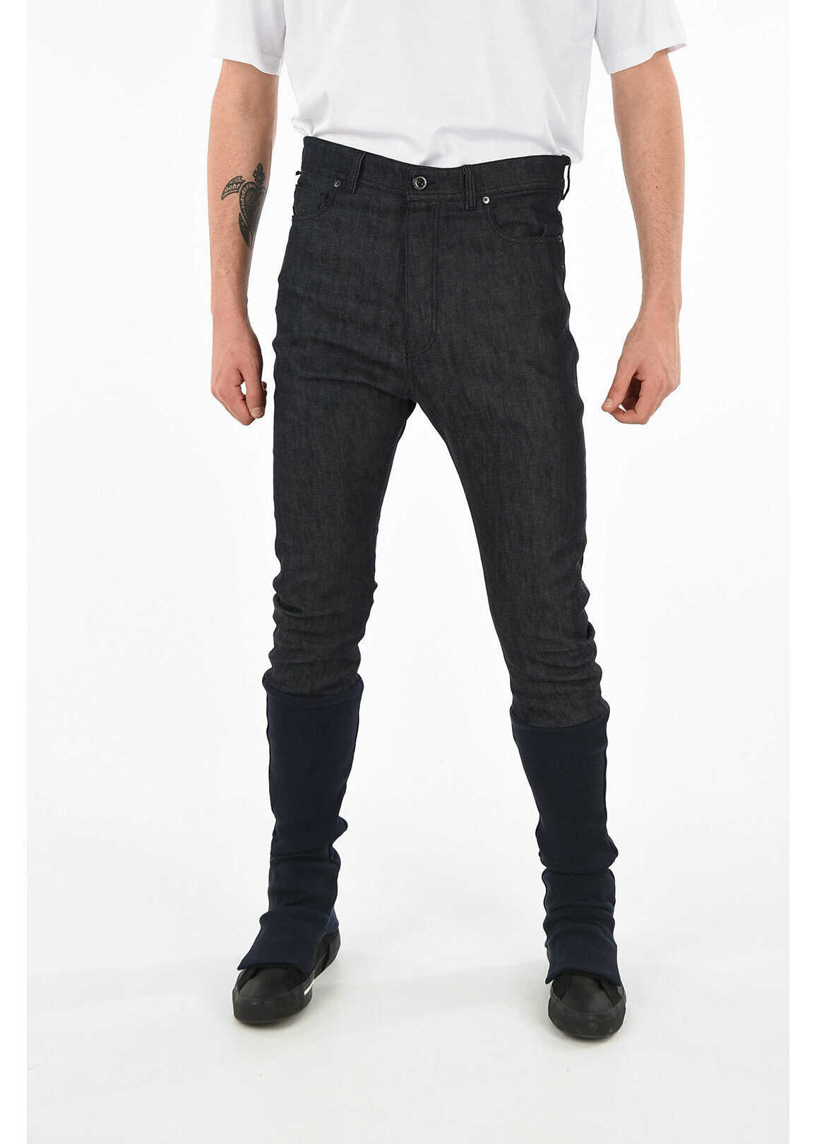 Diesel BLACK GOLD Knitted Ankle TYPE-2840 Jeans BLUE