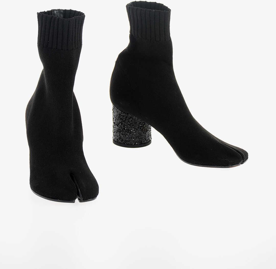 Maison Margiela MM22 6cm Glittered Heel Ankle Boot BLACK