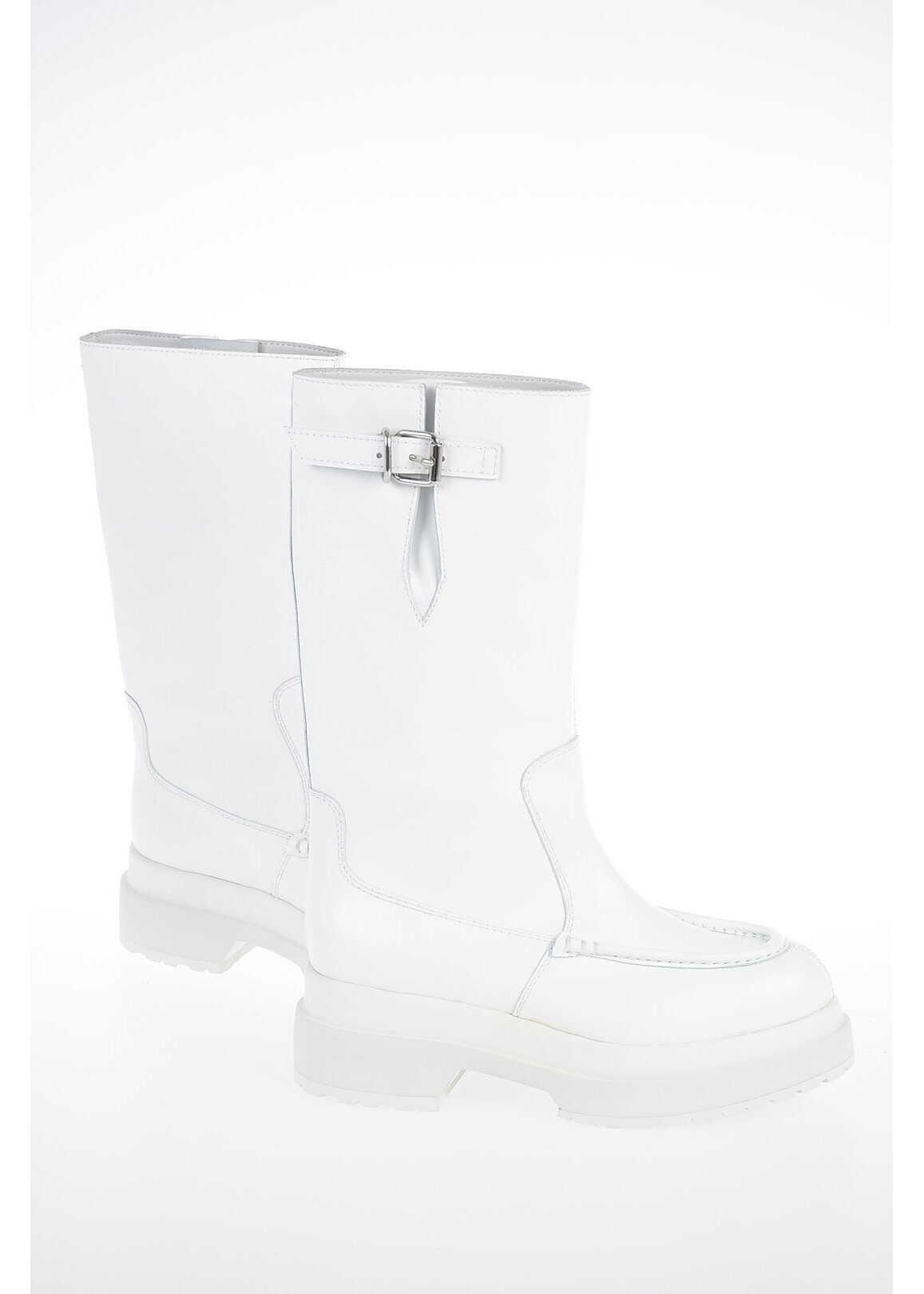 Maison Margiela MM6 Leather Boot WHITE