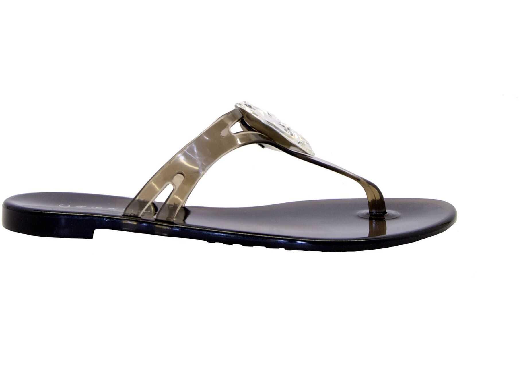 Casadei Pvc Flip Flops BLACK