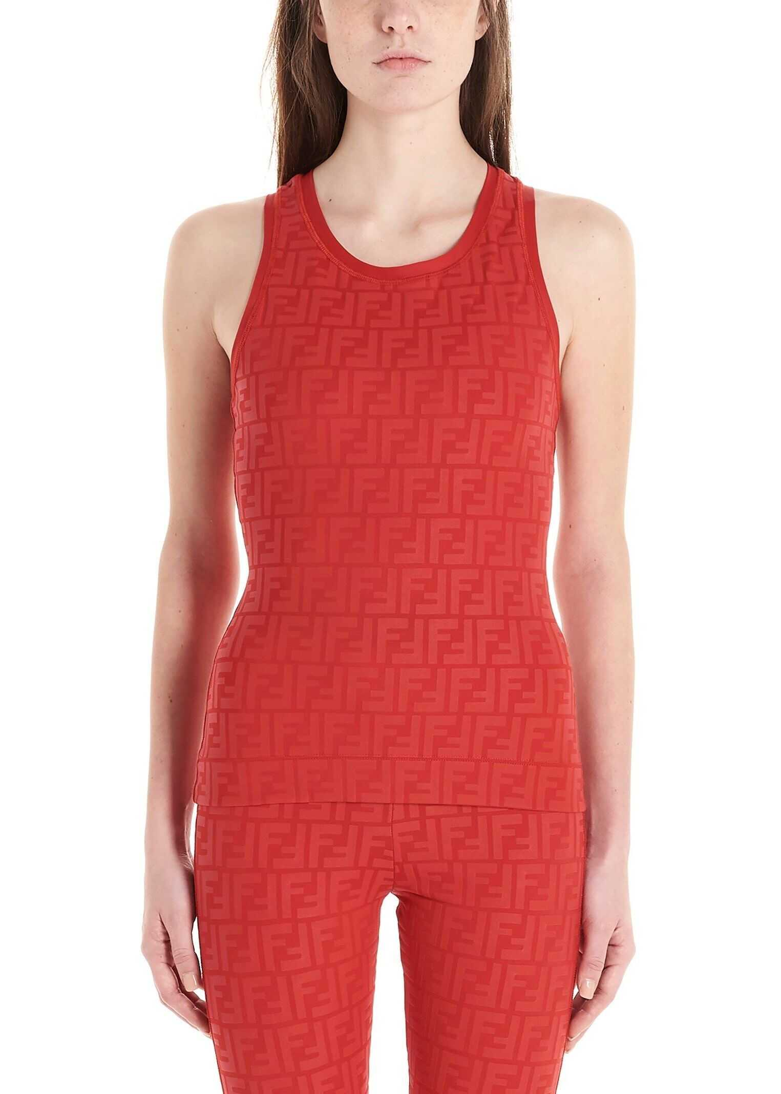 Fendi Polyamide Tank Top RED