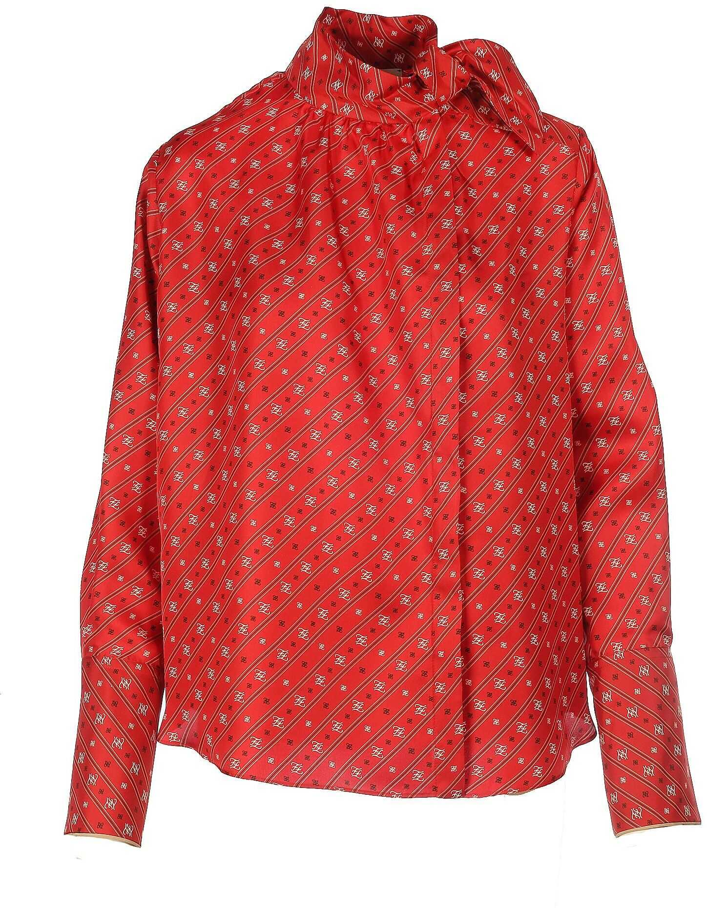 Fendi Silk Shirt RED