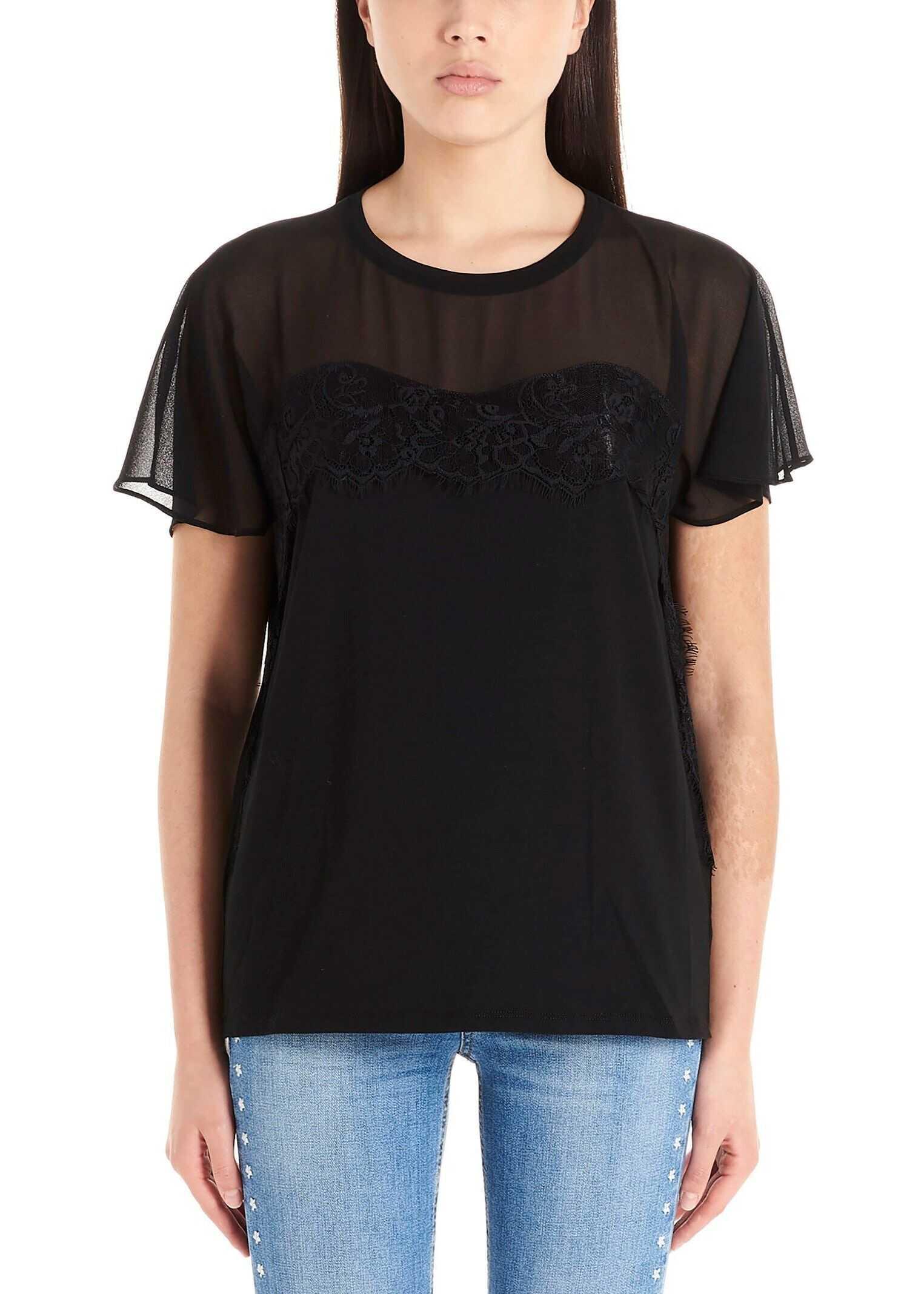 Liu Jo Cotton T-Shirt BLACK