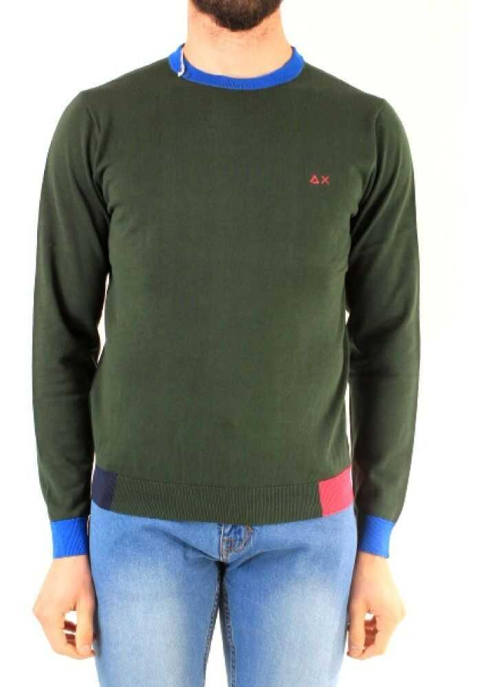 SUN 68 Cotton Sweater GREEN