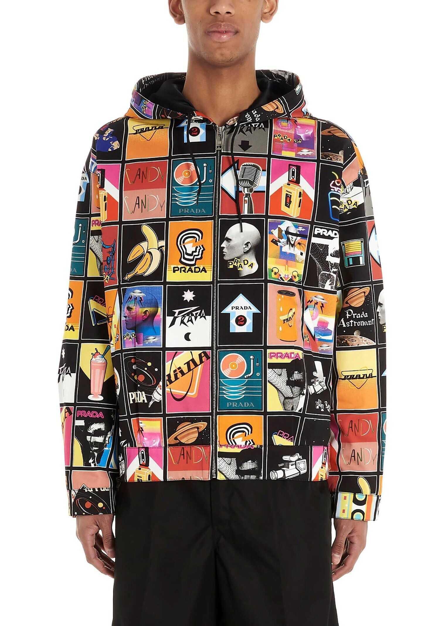 Prada Polyamide Outerwear Jacket MULTICOLOR