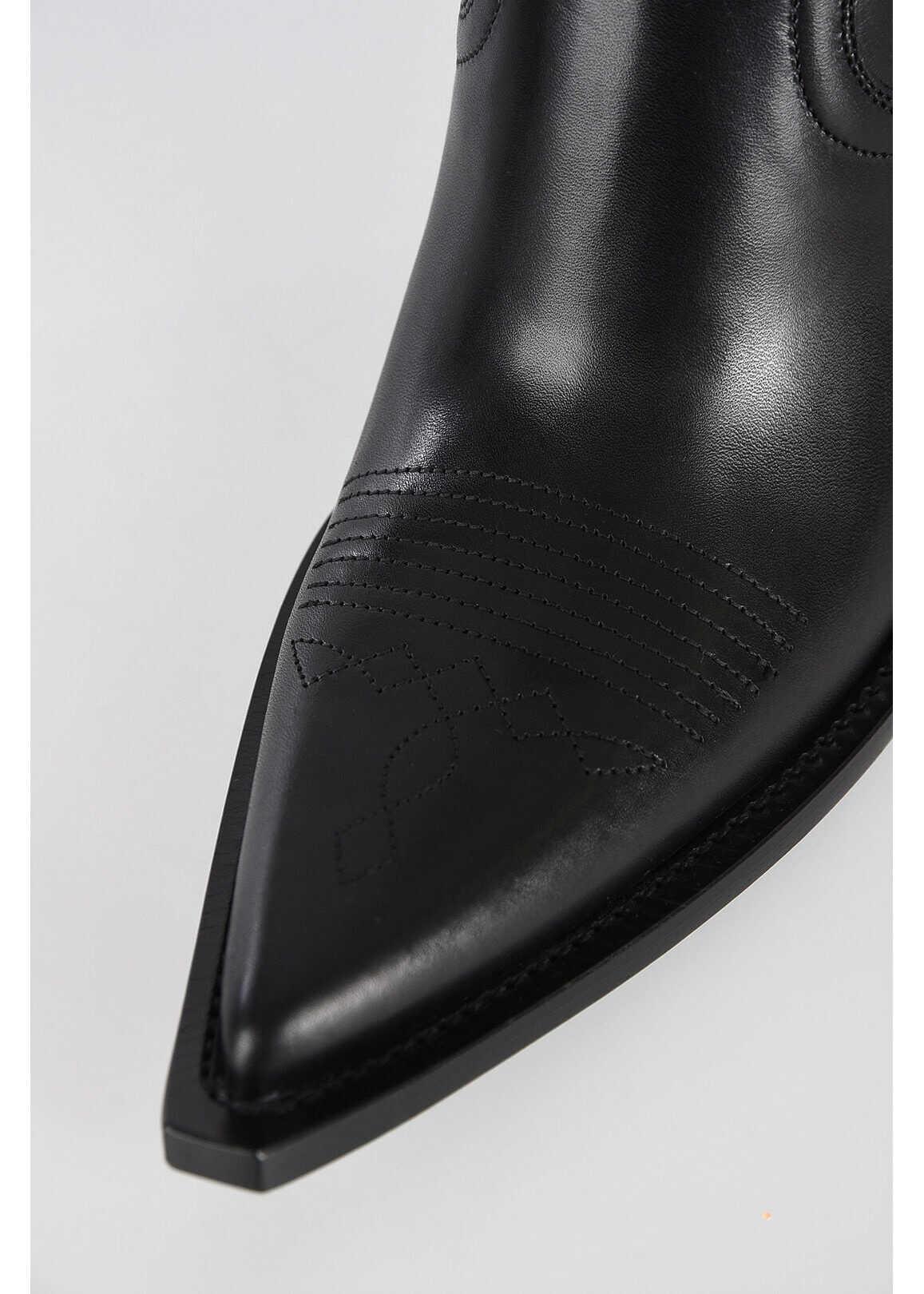 Maison Margiela MM22 Leather RANCHERO Sandal BLACK
