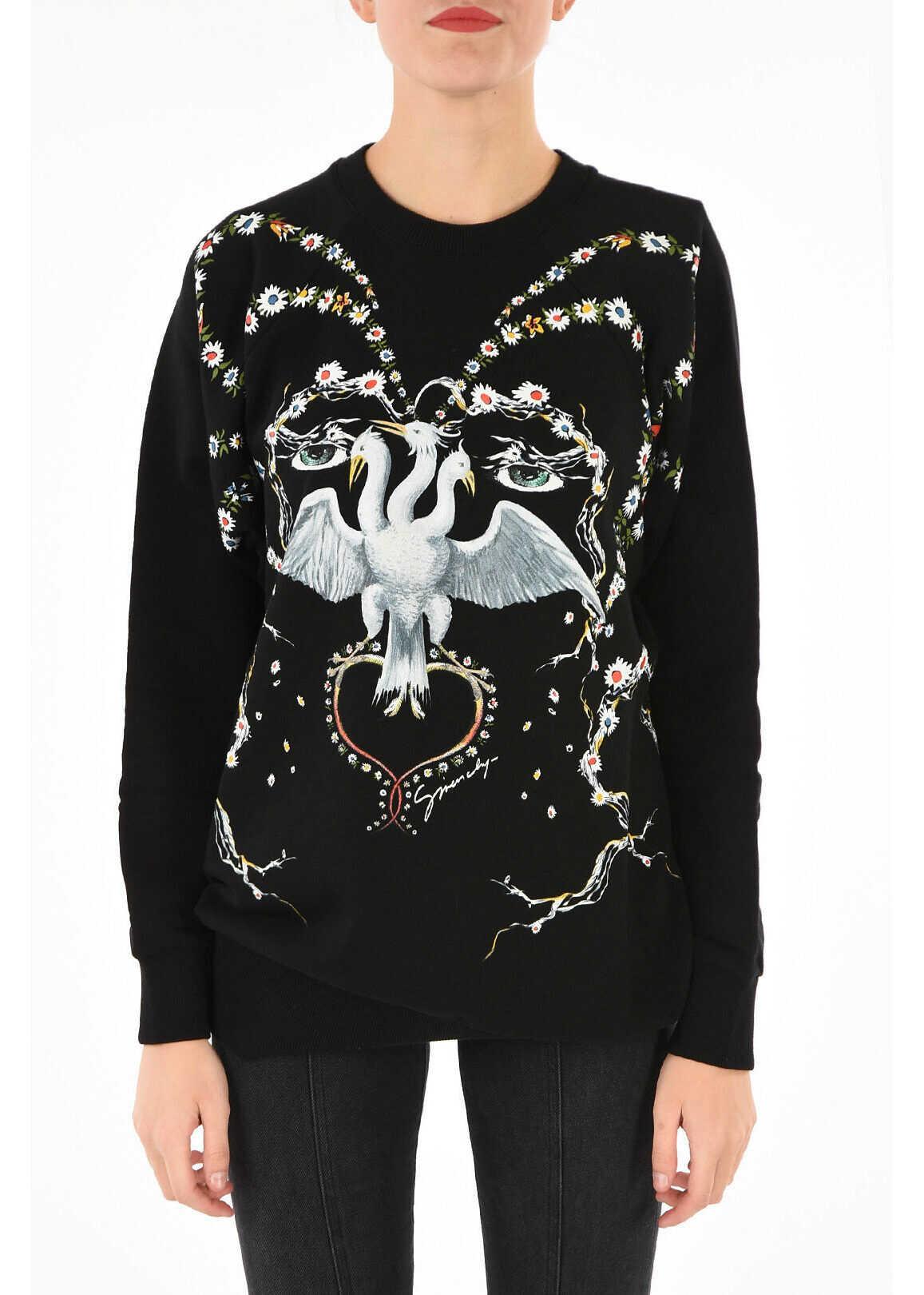 Givenchy Printed sweatshirt BLACK