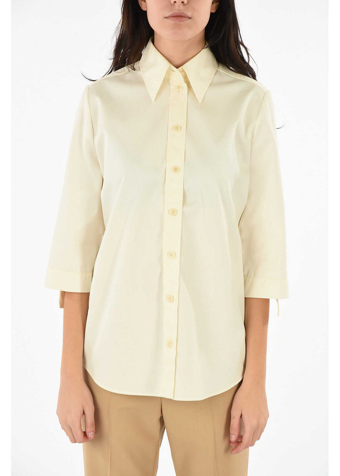 Givenchy Short Sleeve Blouse WHITE