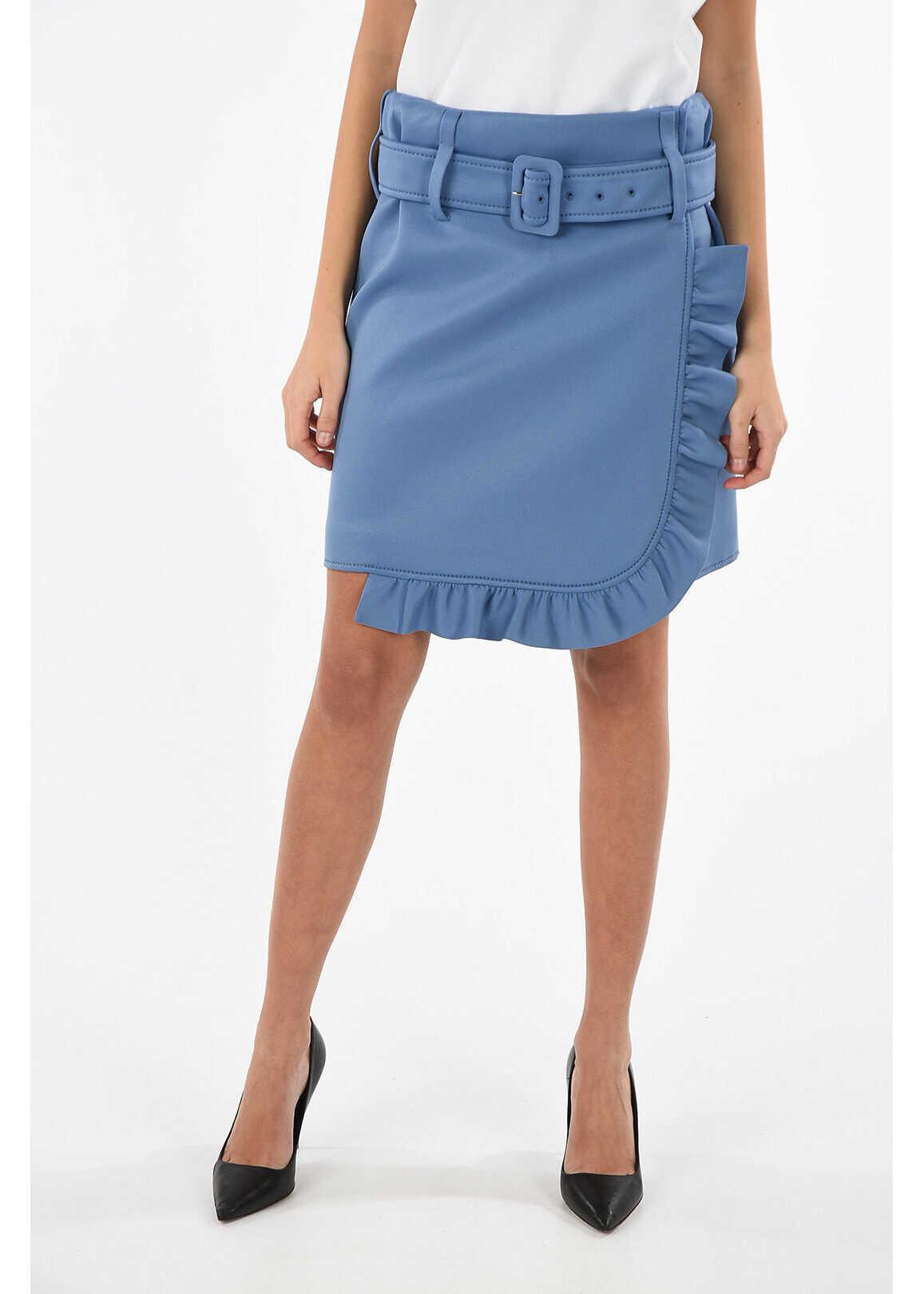 above knee wrap skirt thumbnail