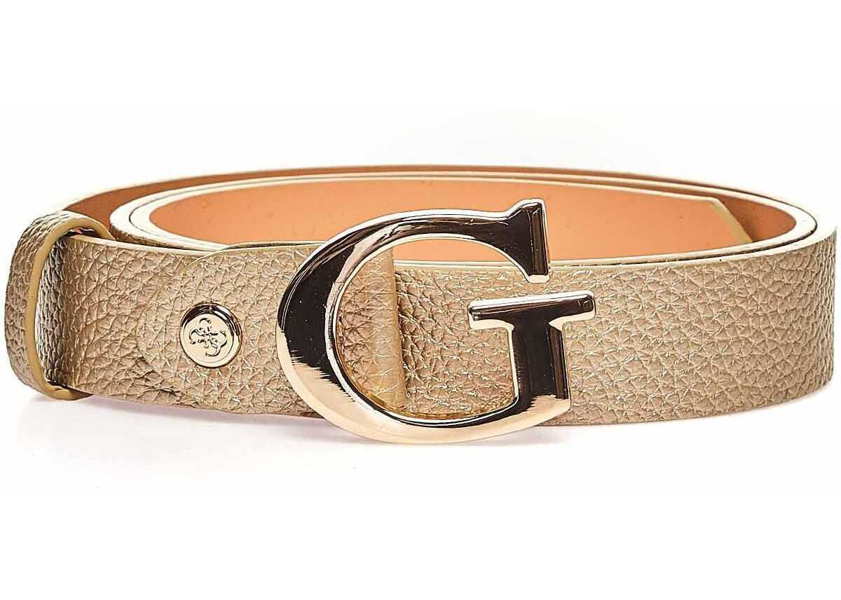 GUESS Metallic belt Gold