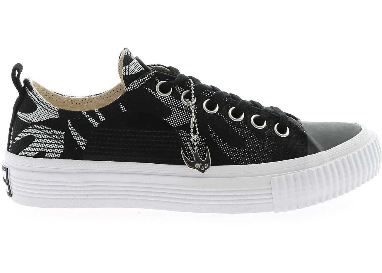 MCQ Alexander McQueen Swallow Sneakers In Black And White Black