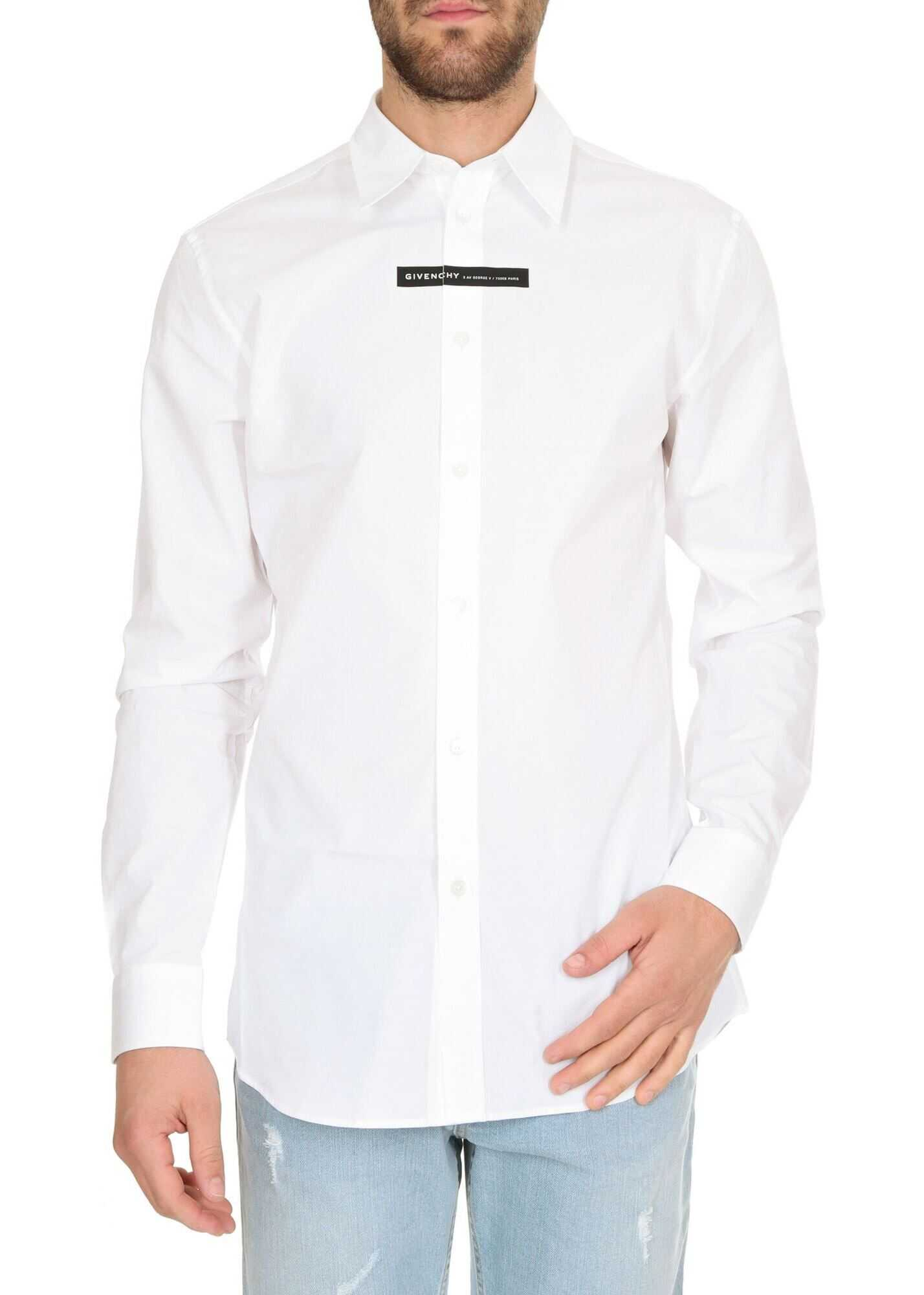 Givenchy Givenchy Adress Print Shirt In White White imagine