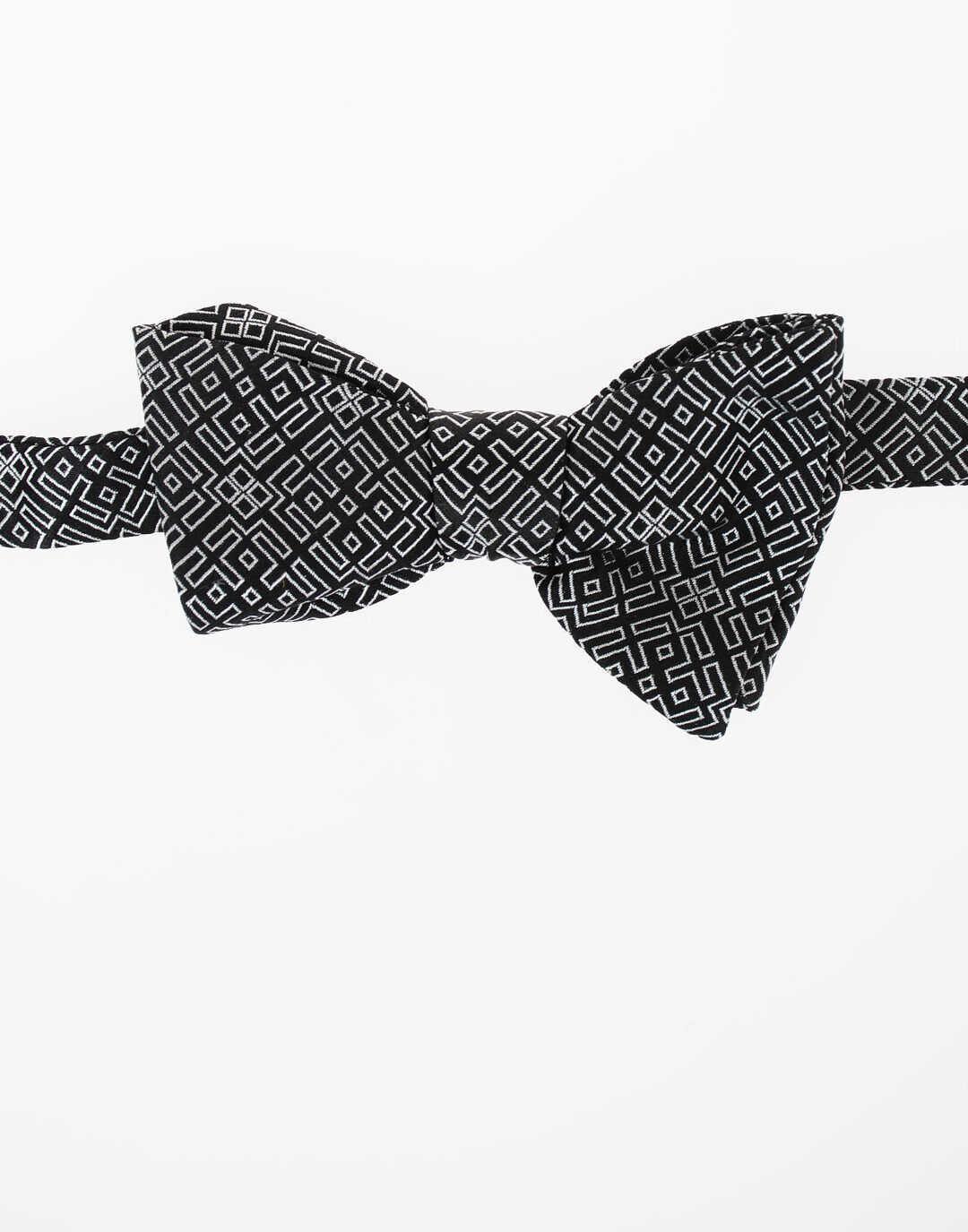 Neil Barrett Silk CLASSIC Bow Tie BLACK & WHITE