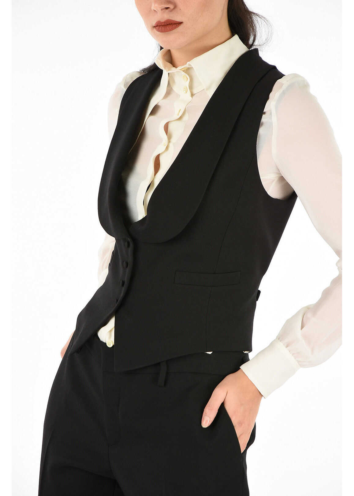 Saint Laurent virgin wool vest BLACK