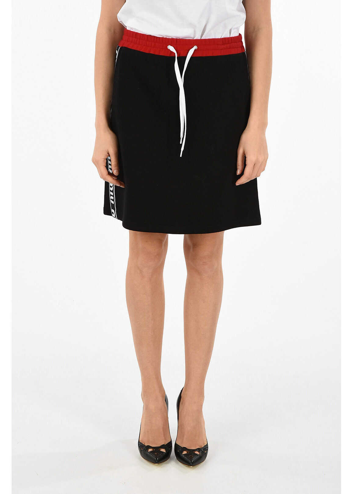 Miu Miu Nylon and cotton Mini Skirt BLACK