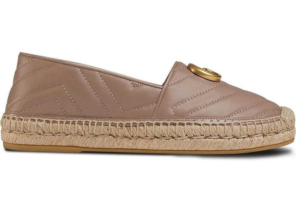 Gucci Leather Espadrilles PINK