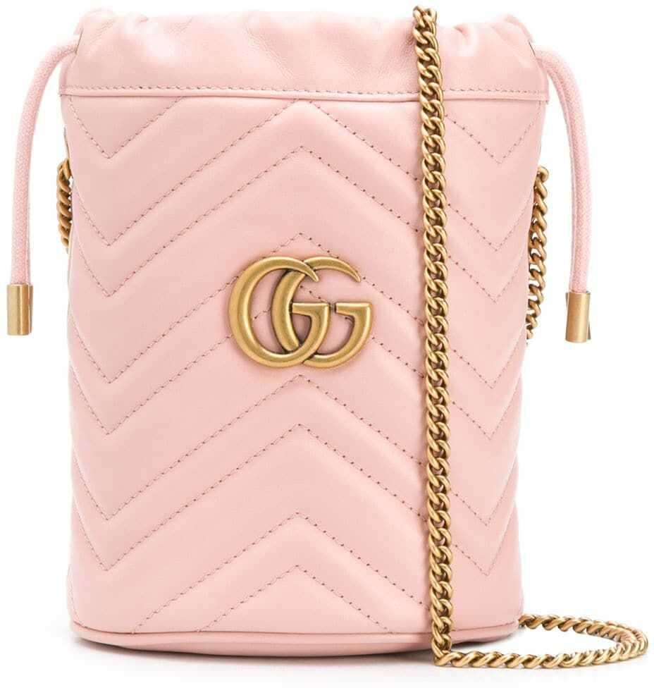 Gucci Leather Shoulder Bag PINK