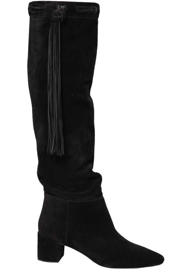 Saint Laurent Suede Boots BLACK