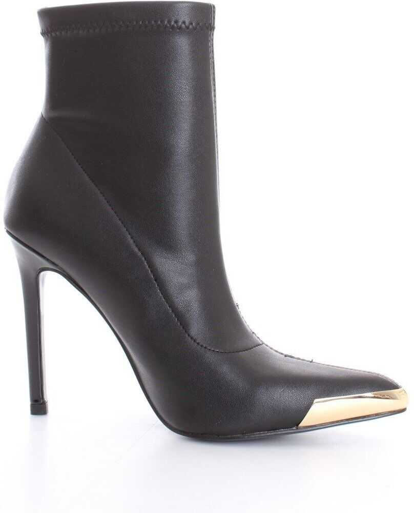 Versace Jeans Leather Ankle Boots BLACK