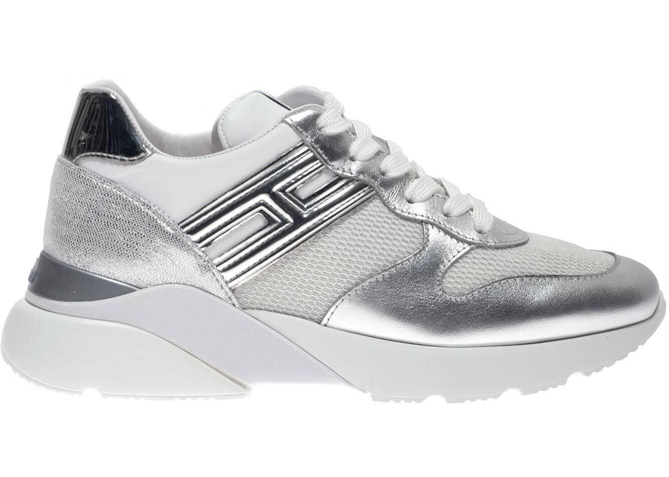 Hogan Active One Sneakers In White And Silver White