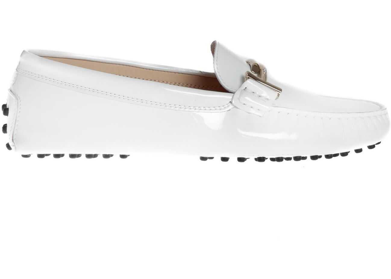 TOD'S Gommino Double T Loafers In White White