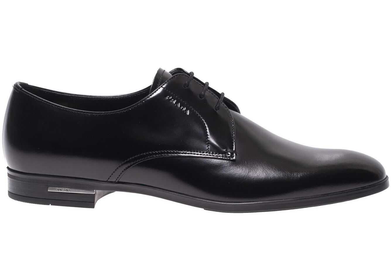 Derby Shoes In Black With Logo Detail On The Heel thumbnail