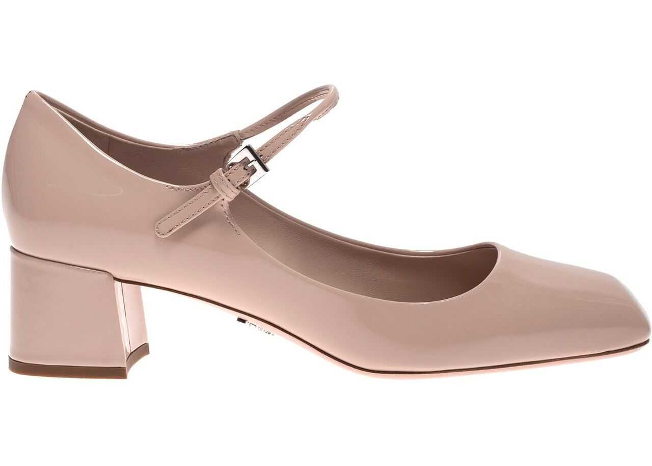 Prada Pumps In Powder Pink Color Patent Leather Pink