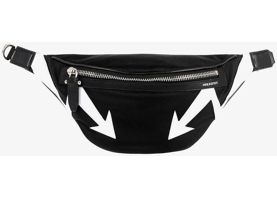 Neil Barrett Bum Bag CLASSIC BELT with Embroidery BLACK