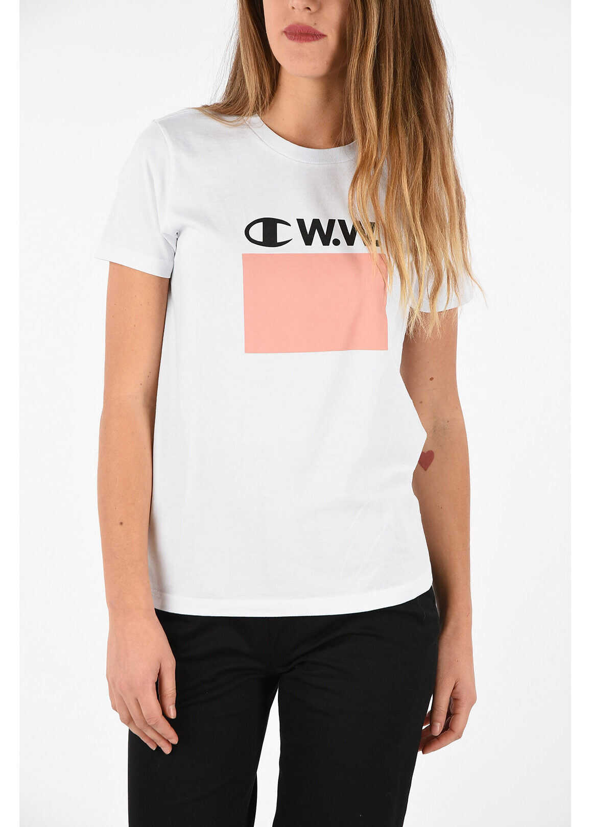 Champion WOOD WOOD T-shirt with Print WHITE