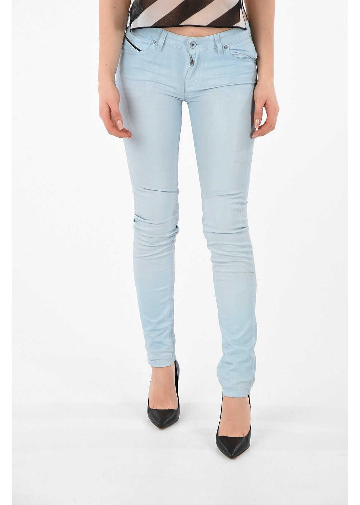 Diesel BLACK GOLD waxed cotton jeans BLUE