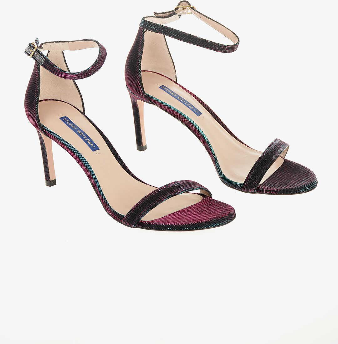 Stuart Weitzman Iridescent NUNAKEDSTRAIGHT Sandals 8 cm MULTICOLOR