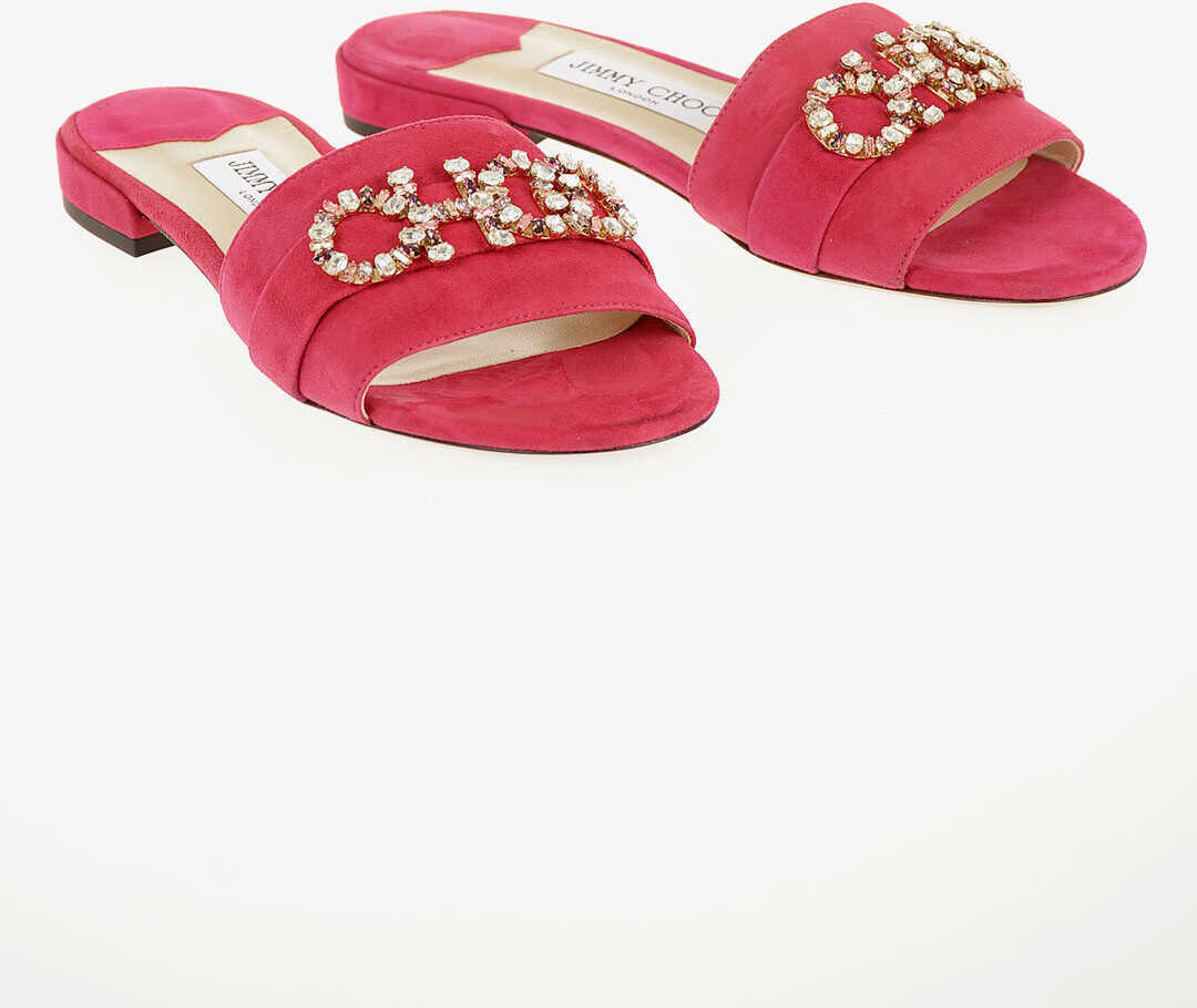 Suede JONI FLAT Slippers with Jewel Details thumbnail