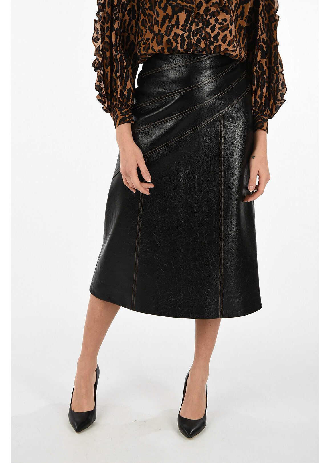 Miu Miu leather skirt BLACK